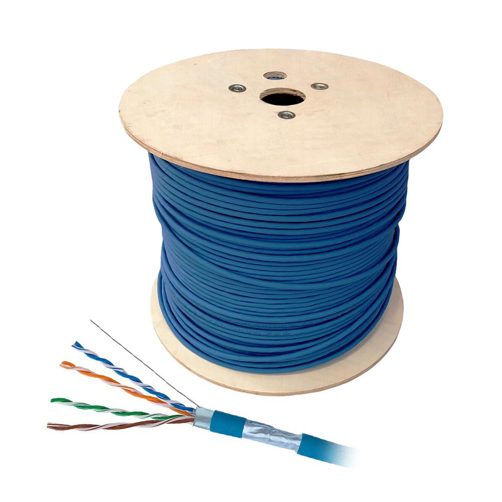 Cablu F/UTP CAT.5E Schrack HSKF424PP5, 4x2xAWG24/1, PVC, Eca, 500 m