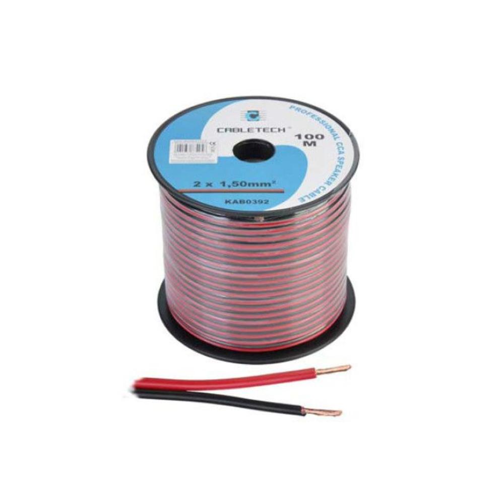 Cablu profesional pentru boxe CCA CABLETECH, 100 M, 2x1.5 mm2 imagine spy-shop.ro 2021