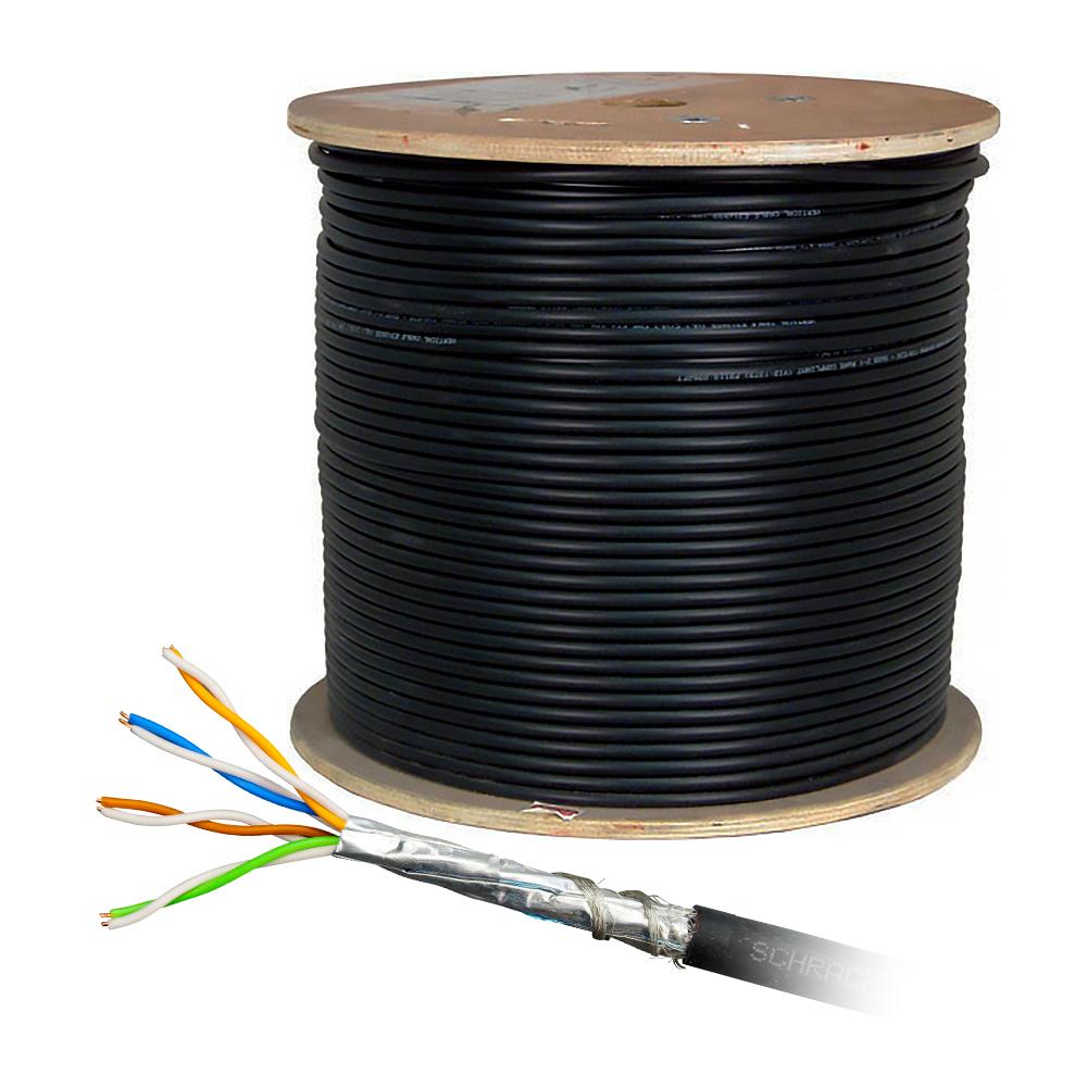 Cablu S/FTP CAT 6A Schrack HSKP4233A5, 4x2xAWG23/1, 500MHz, LS0H-3, Dca, 500 m