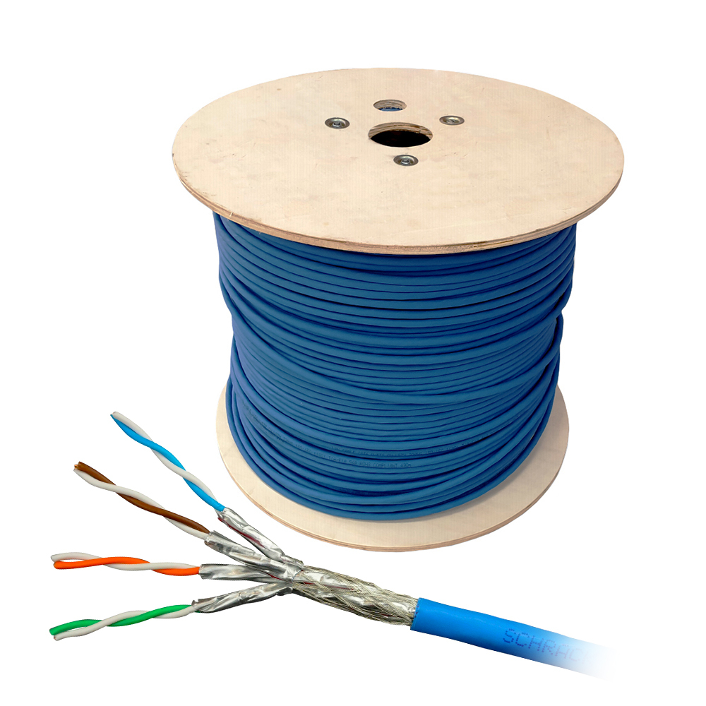 Cablu S/FTP CAT.7 Schrack HSKP423HP5, 4x2xAWG23/1, 1000Mhz, LS0H, Dca, 500 m