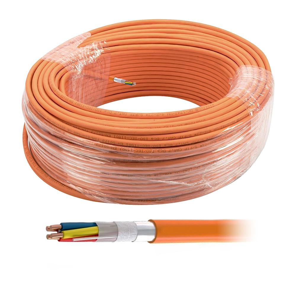 Cablu semnalizare incendiu JEH-ST-H 2*2*0,8 E30, fara halogen, ignifug, 100 m imagine spy-shop.ro 2021