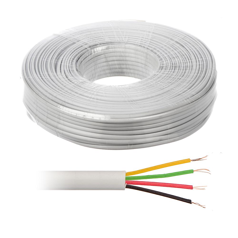 Cablu telefonic plat Genway TEL.01, aluminiu cuprat, 4 fire, 100 m imagine spy-shop.ro 2021