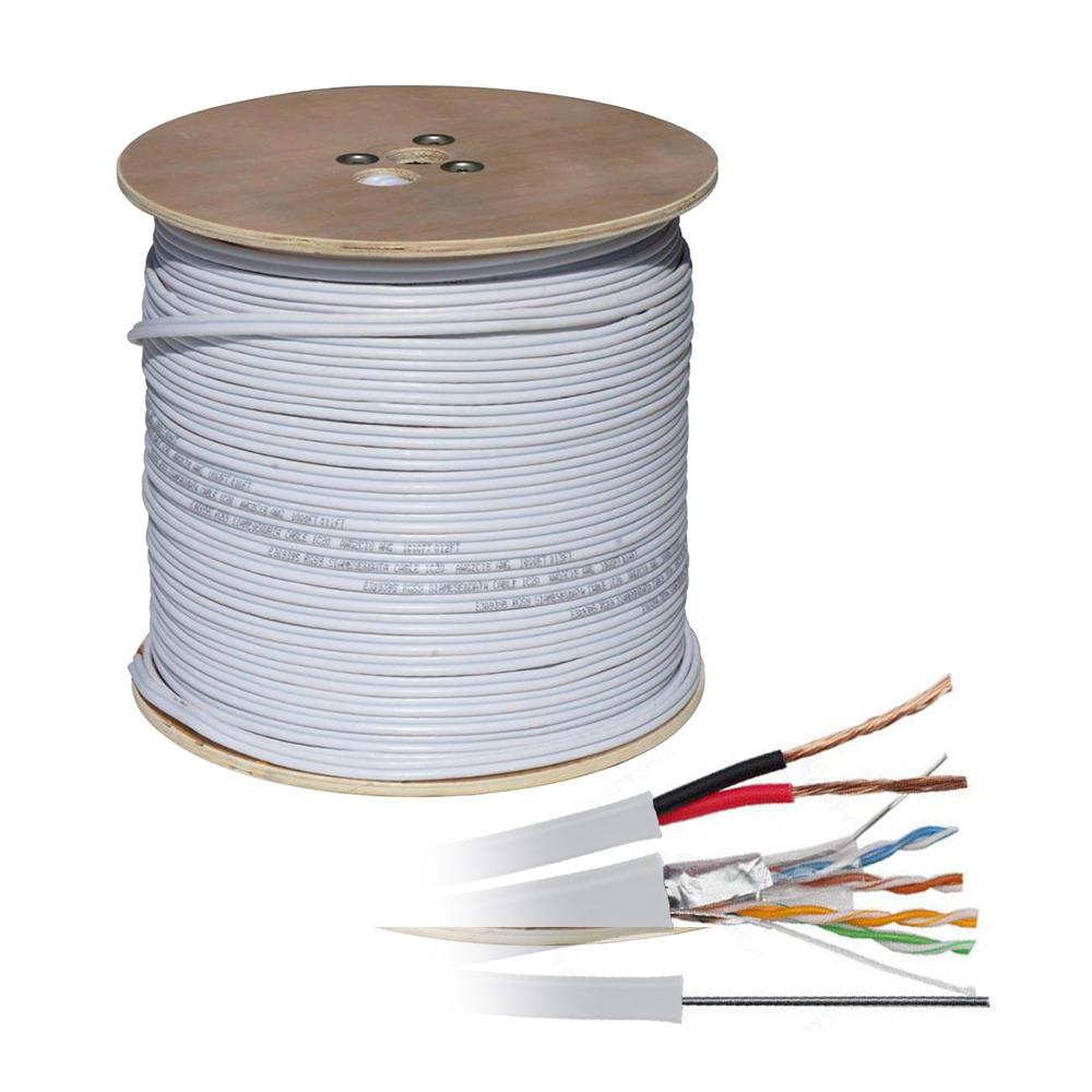 Cablu UTP cu alimentare UTP+2X0.8 cu sufa, cupru, pret / rola 305 m