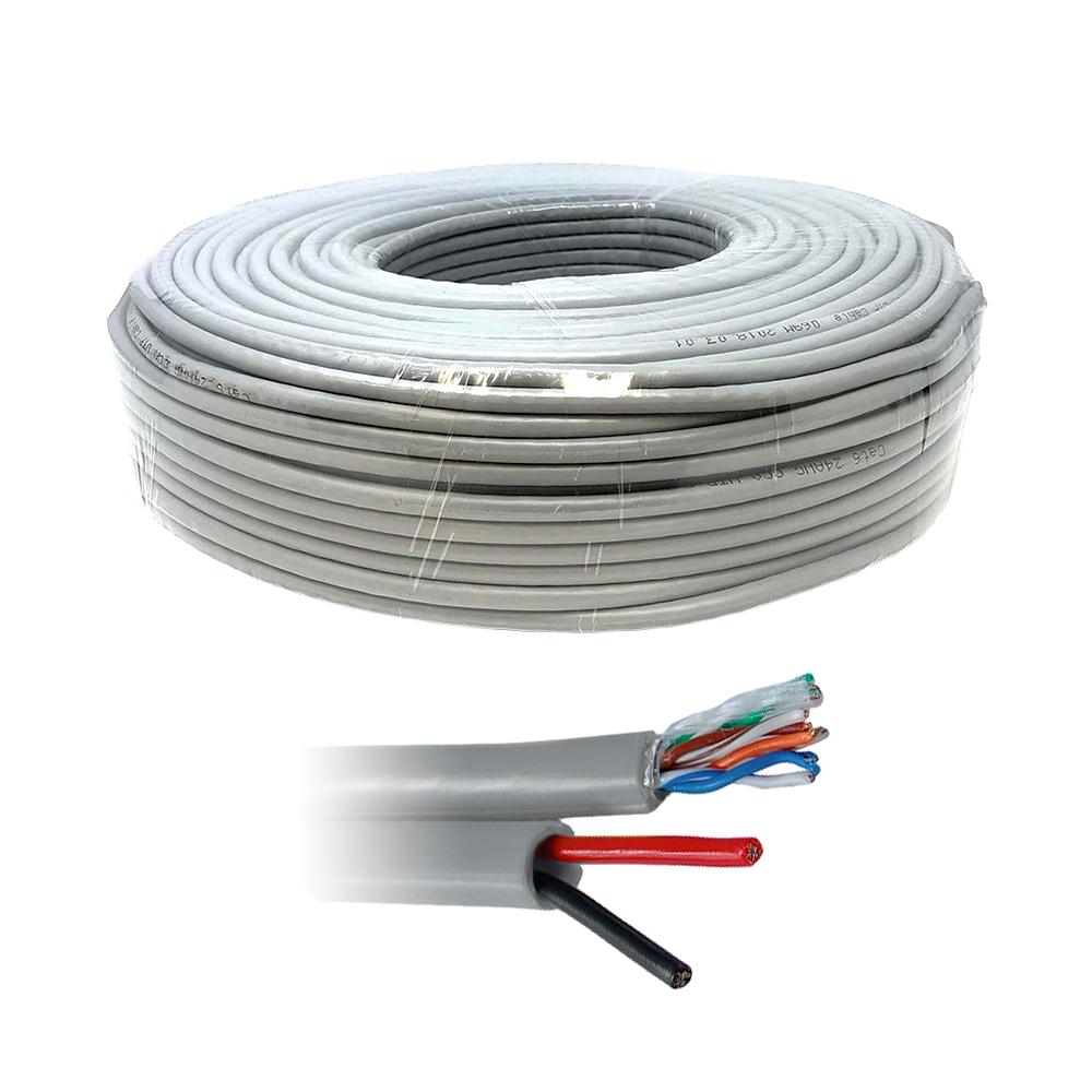 Cablu UTP cu alimentare UTP+2X0.8, cupru, pret / rola 100 m imagine spy-shop.ro 2021