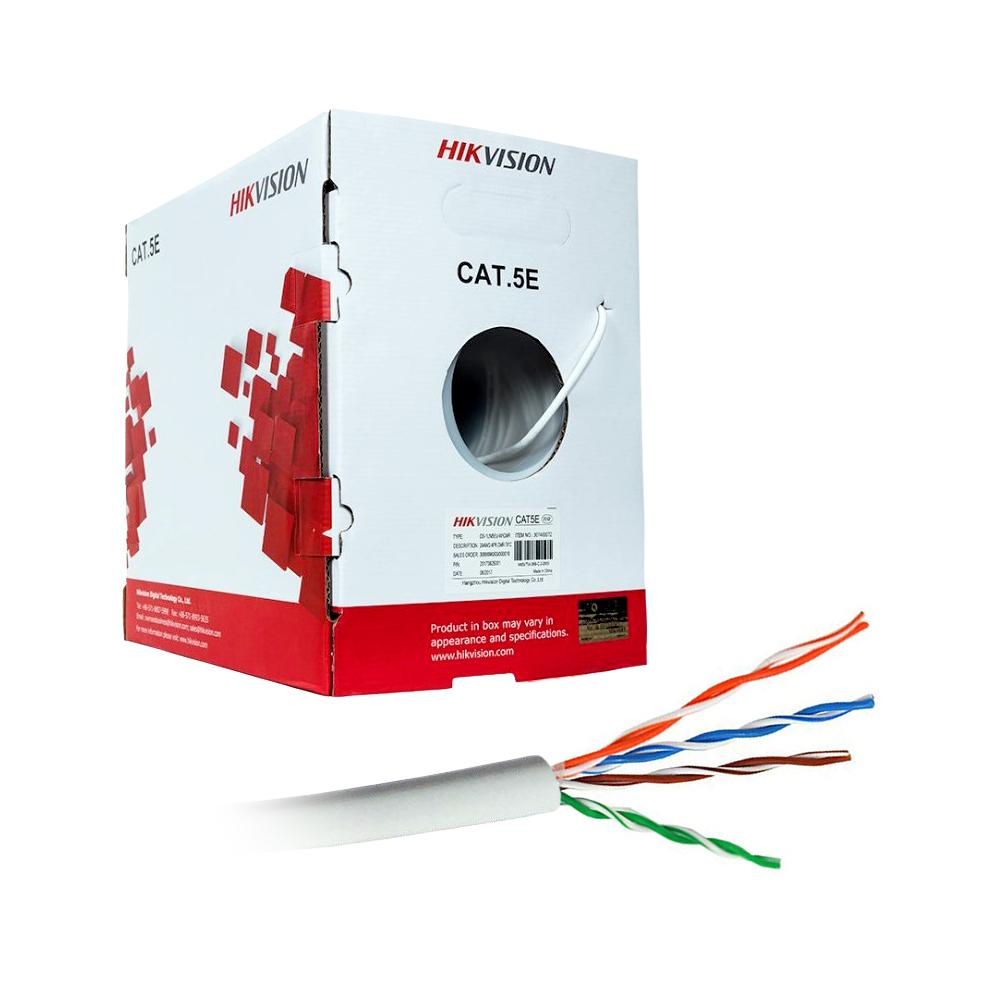 Cablu UTP Hikvision DS-1LN5EU-G/CCA, Cat 5e, pret/rola 305 m imagine spy-shop.ro 2021