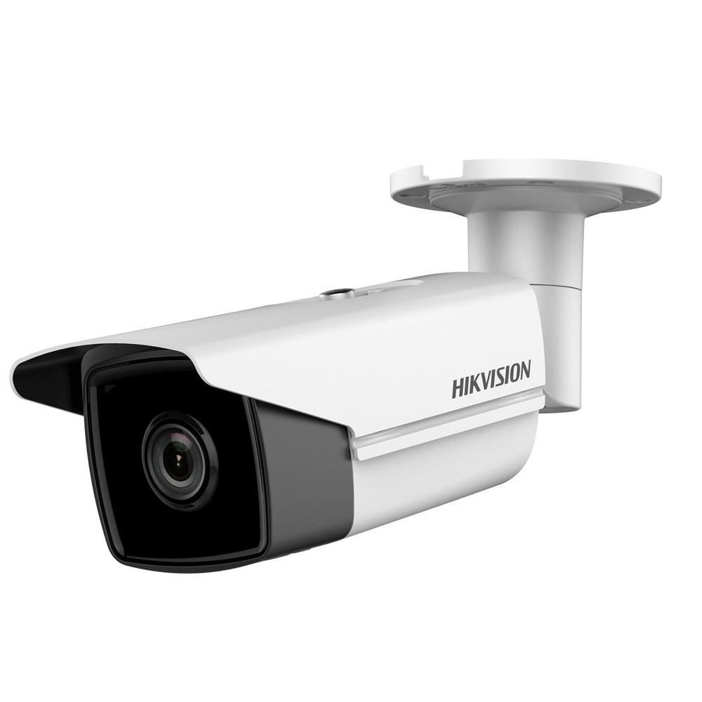 Camera supraveghere exterior IP Hikvision DS-2CD2T85FWD-I8, 4 K, IR 80 m, 2.8 mm
