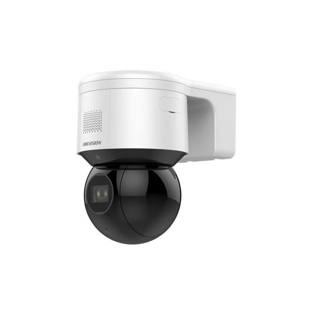 Camera supraveghere IP WiFi Speed Dome PTZ Hikvision DS-2DE3A404IW-DE/W, 4 MP, 2.8 - 12 mm, motorizat, IR 50 m, lumina alba 30 m, flash la alarma, microfon imagine