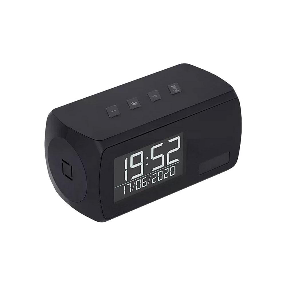 Camera spion disimulata in ceas de birou Aishine AI-LS006-B, WiFi, 2 MP, IR 5 m, PIR 5 m, standby 1 an, detectia miscarii, microfon, slot card