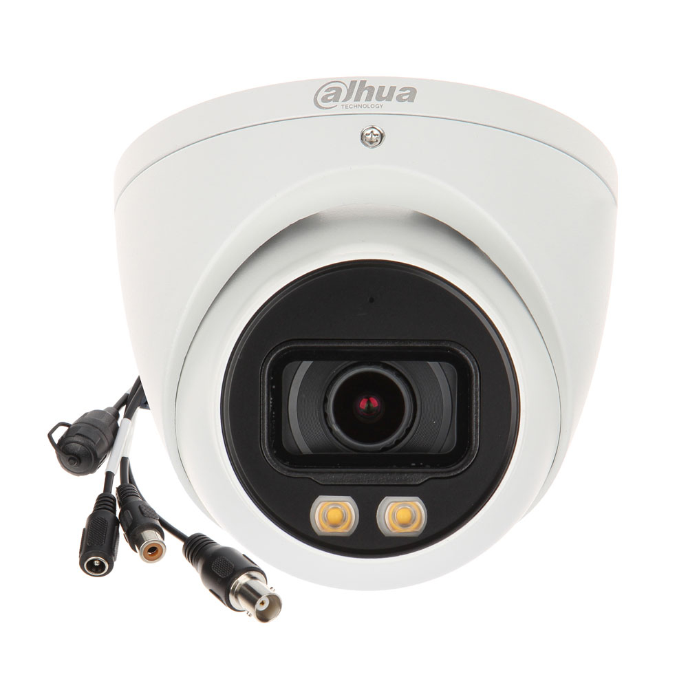 Camera supraveghere dome Dahua Full Color Starlight HAC-HDW2249T-A-LED, 2 MP, 3.6 mm, lumina alba 40 m, microfon