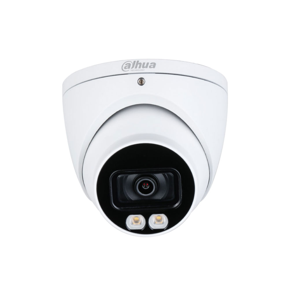 Camera supraveghere Dome Dahua Starlight Full Color HAC-HDW1509T-A-LED, 5 MP, lumina alba 40 m, 3.6 mm, microfon
