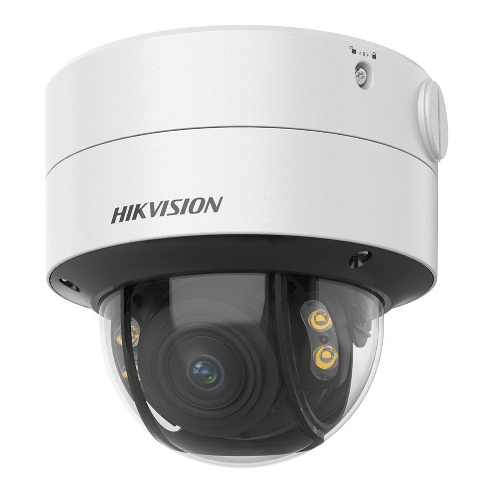 Camera supraveghere Dome Hikvision ColorVu DS-2CE59DF8T-AVPZE, 2 MP, lumina alba 40 m, 2.8 - 12 mm, motorizat, PoC, IK10
