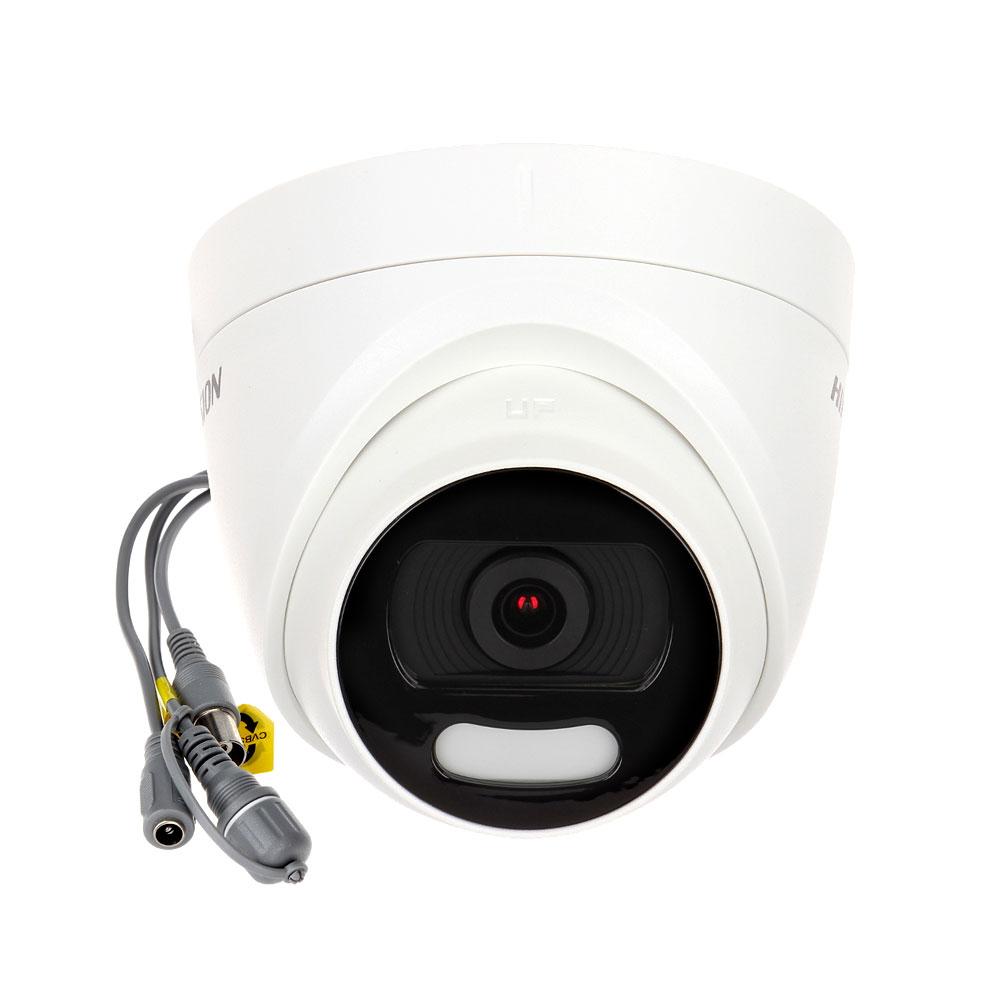 Camera supraveghere Dome HikVision ColorVu DS-2CE72DFT-F28, 2 MP, lumina alba 20 m, 2.8 mm