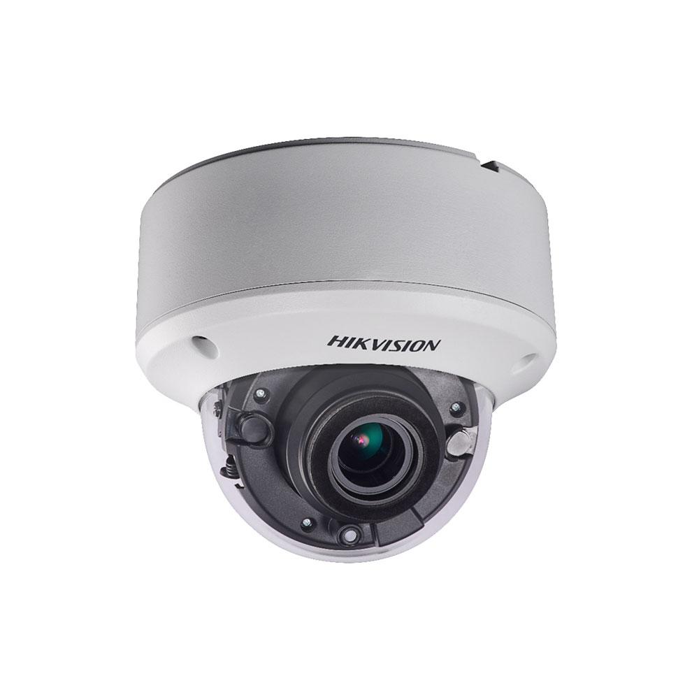 Camera supraveghere Dome Hikvision DS-2CE56H0T-VPIT3ZE, 5 MP, IR 40 m, 2.7 - 13.5 mm, motorizat, IK10