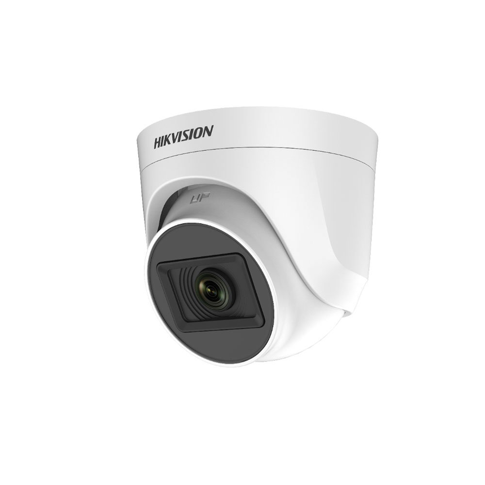 Camera supraveghere Dome HikVision TurboHD 4.0 DS-2CE76H0T-ITPF C, 5 MP, IR 20 m, 2.4 mm imagine