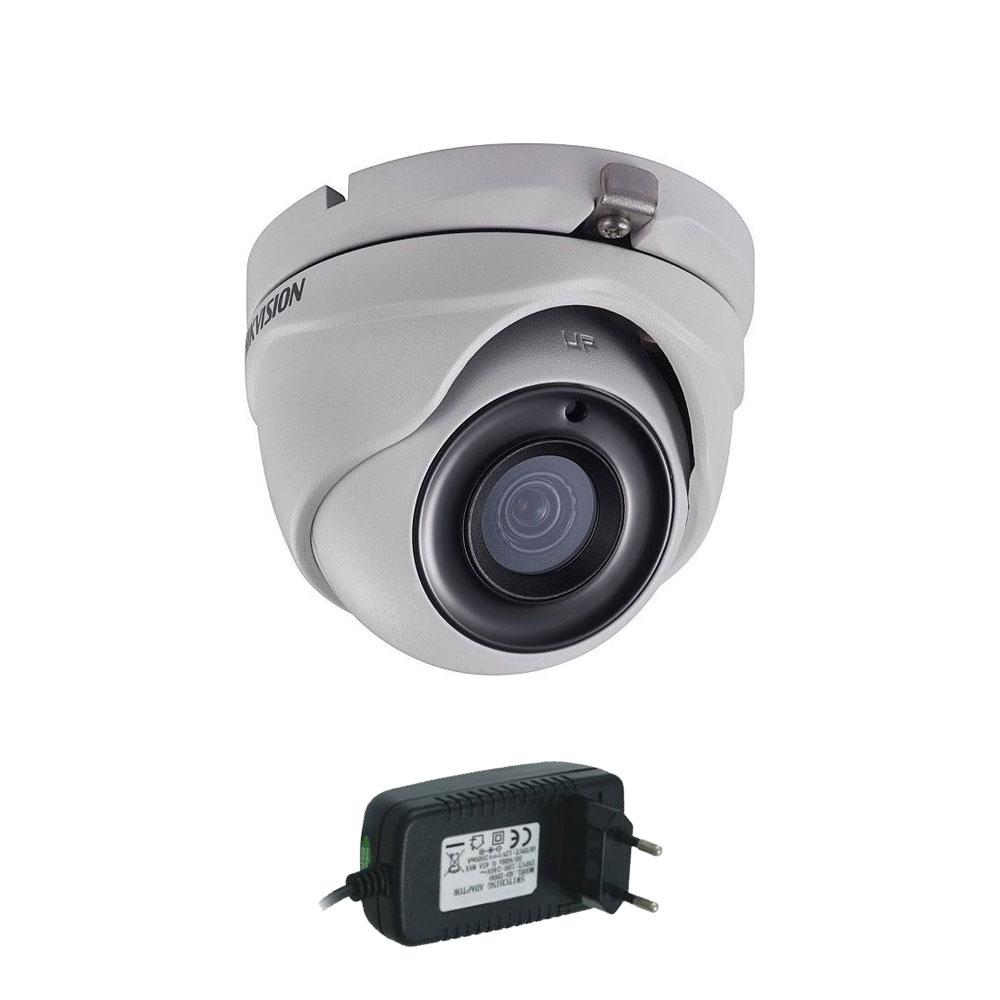 Camera supraveghere Dome Hikvision Ultra-Low Light DS-2CE56D8T-ITMF, 2MP, 30 m, 2.8mm + alimentare imagine spy-shop.ro 2021