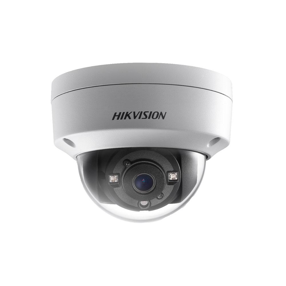 Camera supraveghere Dome Hikvision Ultra Low Light DS-2CE56D8T-VPITE, 2 MP, IR 30 m, 2.8 mm, PoC, IK10