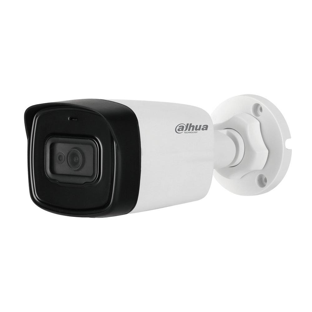Camera supraveghere exterior Dahua HAC-HFW1230TL-A, 2 MP, IR 80 m, 3.6 mm, microfon incorporat, Starlight