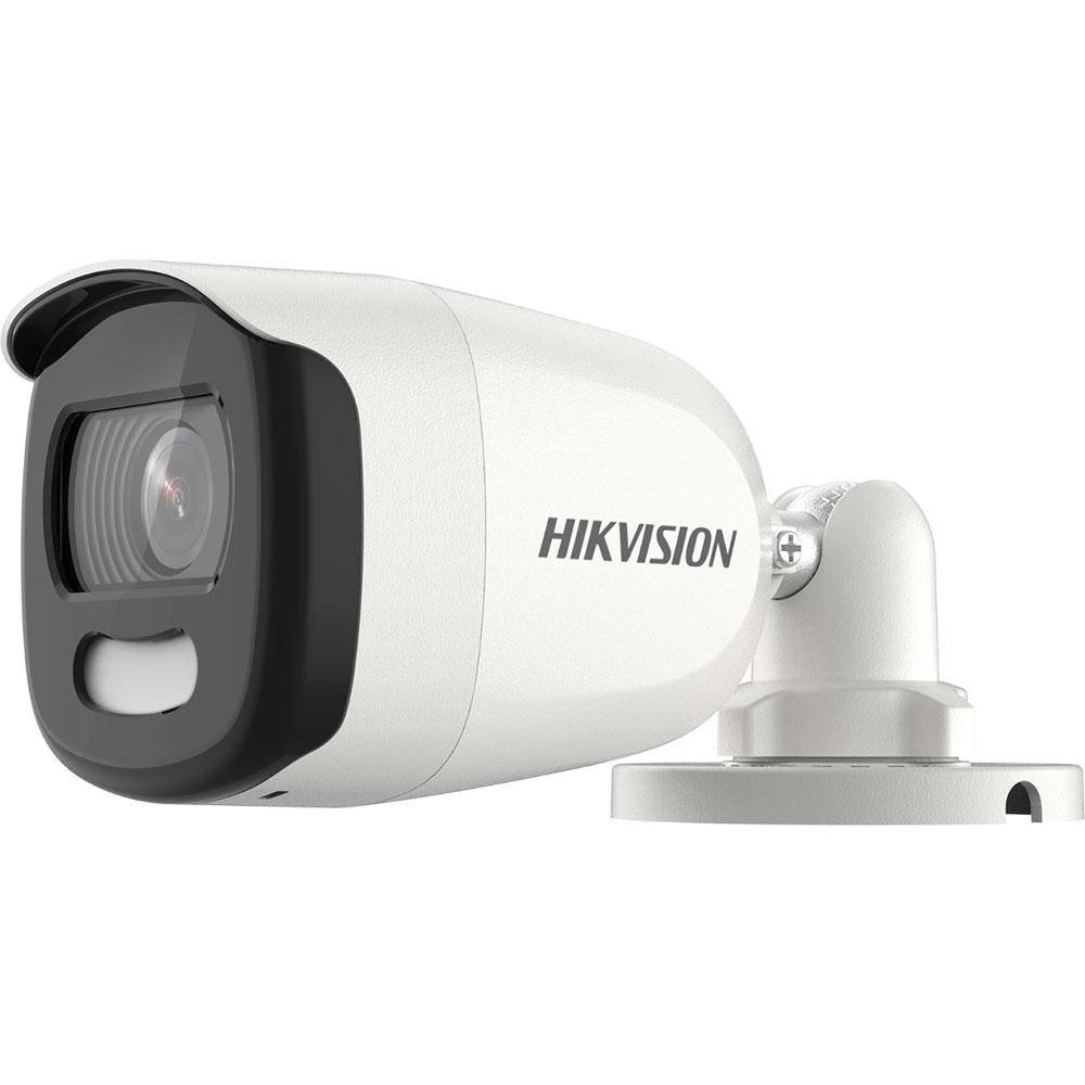 Camera supraveghere exterior Hikvision ColorVu DS-2CE10HFT-E, 5 MP, lumina alba 20 m, 2.8 mm, PoC