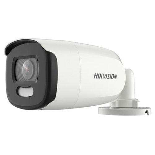 Camera supraveghere exterior Hikvision ColorVu DS-2CE10HFT-F28, 5 MP, lumina alba 20 m, 2.8 mm, stroboscop