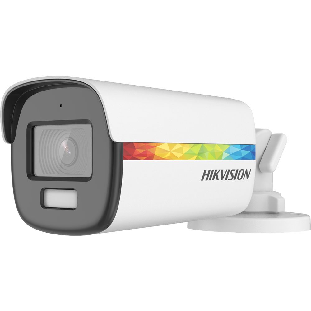 Camera supraveghere exterior Hikvision ColorVu DS-2CE12DF8T-FSLN, 2 MP, lumina alba 40 m, 3.6 mm, microfon