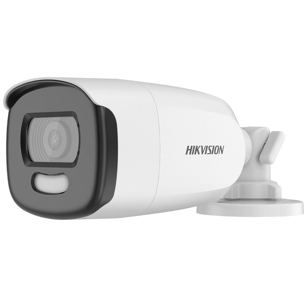 Camera supraveghere exterior Hikvision ColorVu DS-2CE12HFT-E, 5 MP, lumina alba 40 m, 2.8 mm, PoC