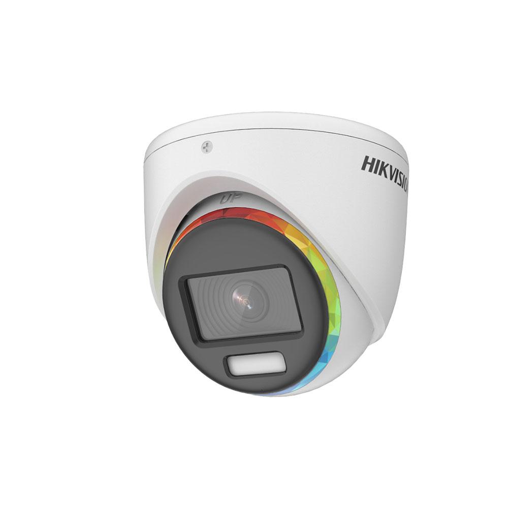 Camera supraveghere Dome Hikvision ColorVu DS-2CE70DF8T-MF, 2 MP, lumina alba 20 m, 2.8 mm