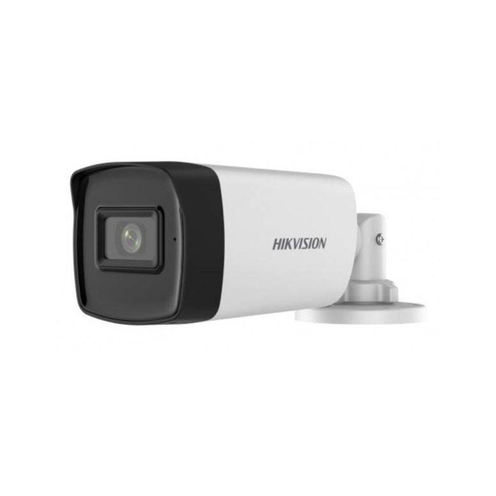 Camera supraveghere exterior Hikvision DS-2CE17H0T-IT3FS, 5 MP, 3.6 mm, IR 40 m, audio prin coaxial, microfon