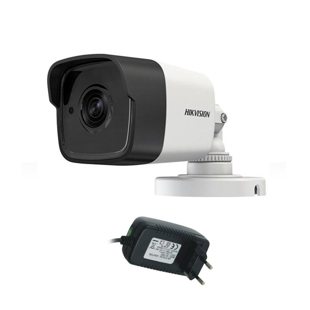 Camera Supraveghere Exterior Hikvision Ultra Low Light Turbohd Ds-2ce16d8t-itf, 2 Mp, Ir 20 M, 2.8 Mm + Alimentator