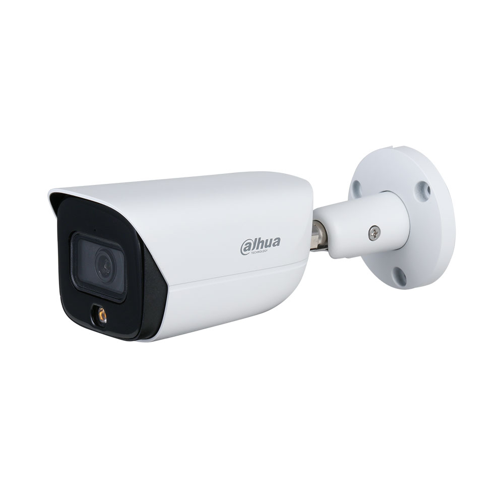 Camera supraveghere exterior IP Dahua Full Color WizSense IPC-HFW3549E-AS-LED-0280B, 5 MP, 2.8 mm, lumina alba, microfon, slot card, PoE