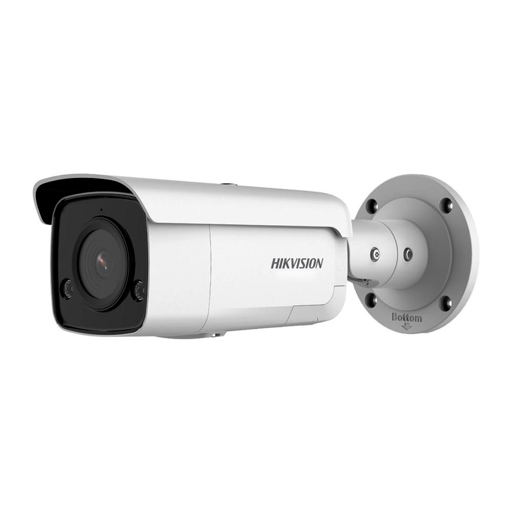 Camera supraveghere exterior IP Hikvision AcuSense DS-2CD2T46G2-ISU/SL, 4 MP, IR 60 m, 2.8 mm, microfon, PoE