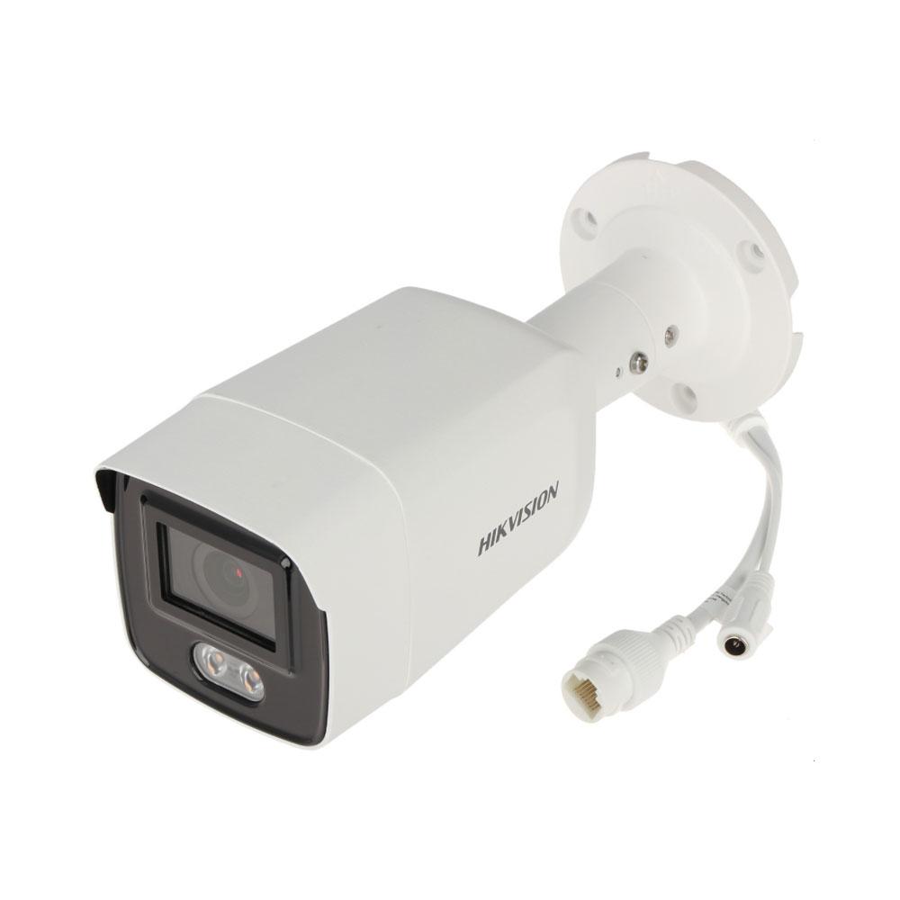 Camera supraveghere exterior IP Hikvision ColorVu DS-2CD2047G1-L, 4 MP, lumina alba 30 m, 2.8 mm, slot card imagine