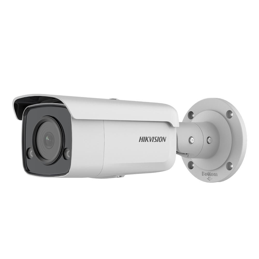 Camera supraveghere exterior IP Hikvision ColorVu DS-2CD2T47G2-L 2.8MM, 4 MP, lumina alba 60 m, 2.8 mm, PoE