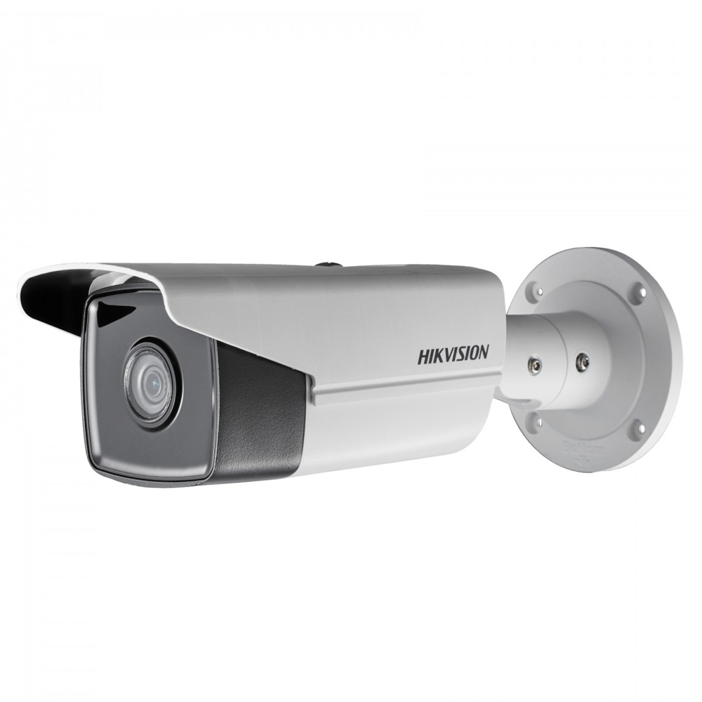 Camera supraveghere exterior IP Hikvision DS-2CD2T45FWD-I8 DarkFighter, 4 MP, IR 80 m, 4 mm