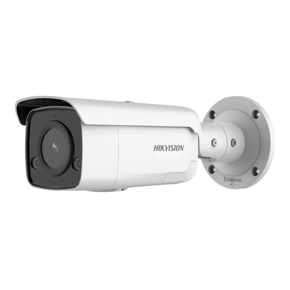 Camera supraveghere exterior IP Hikvision AcuSense DS-2CD2T86G2-ISU/SL, 8 MP, IR 60 m, 2.8 mm, microfon, slot card, stroboscop, PoE