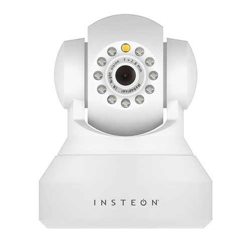 Camera supraveghere IP wireless Insteon 2864-222, 1 MP, IR 8 m, WiF, alb imagine