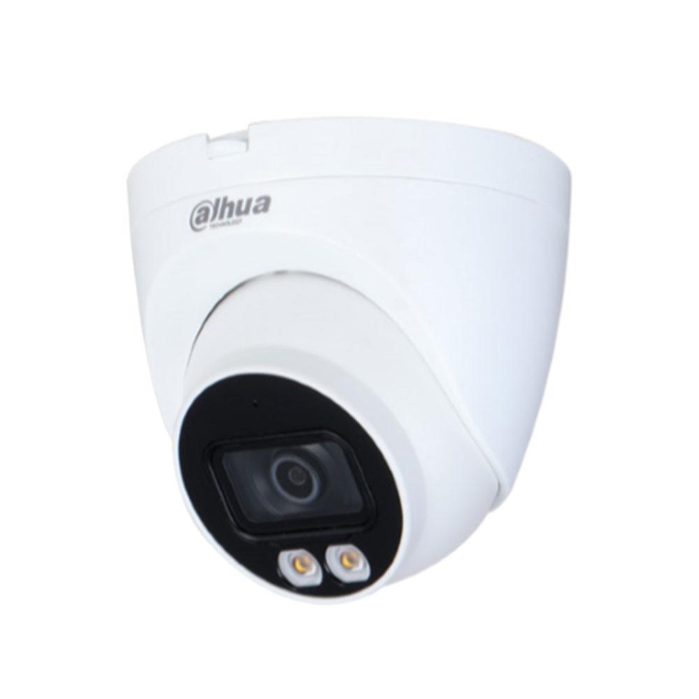 Camera supraveghere IP Dome Dahua Full Color IPC-HDW2439T-AS-LED-0280B-S2, 4 MP, 2.8 mm, lumina alba, microfon, slot card imagine