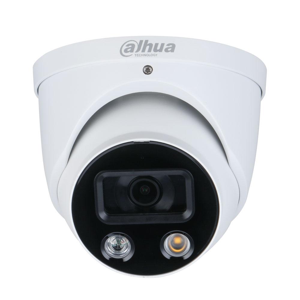 Camera supraveghere IP Dome Dahua Full Color WizSense IPC-HDW3249H-AS-PV-0280B, 2 MP, lumina alba 30 m, 2.8 mm, slot card, microfon