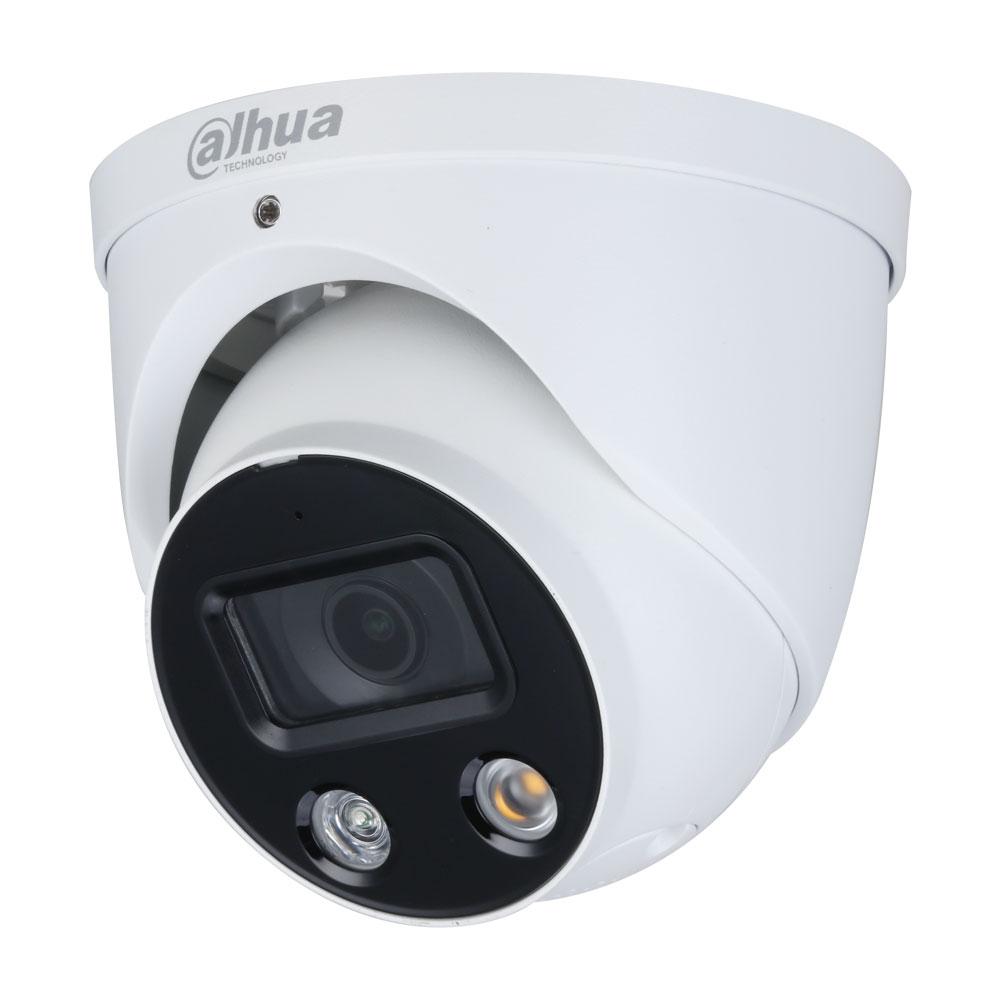 Camera supraveghere IP Dome Dahua Full Color WizSense IPC-HDW3849H-AS-PV-0280B, 4K, lumina alba 30 m, 2.8 mm, slot card, microfon imagine spy-shop.ro 2021