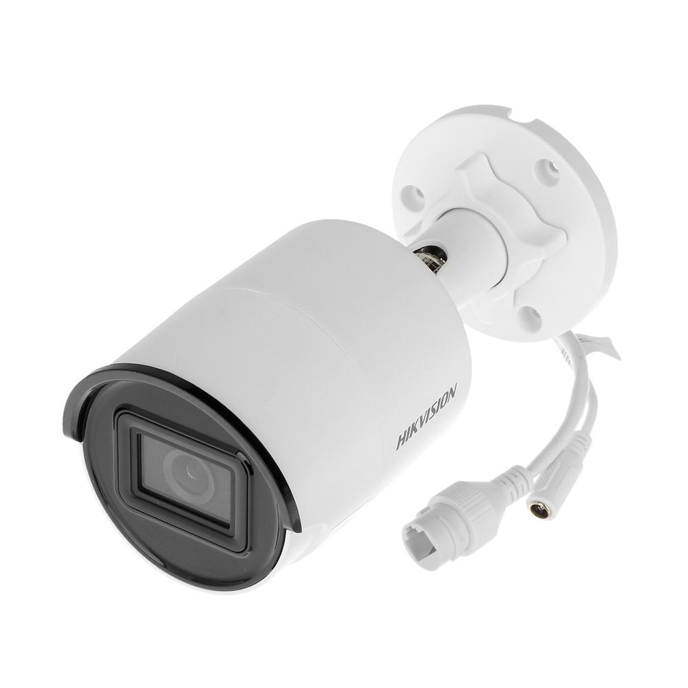 Camera supraveghere IP exterior Hikvision AcuSense DarkFighter DS-2CD2086G2-IU28, 8 MP, IR 40 m, 2.8 mm, slot card, microfon, PoE