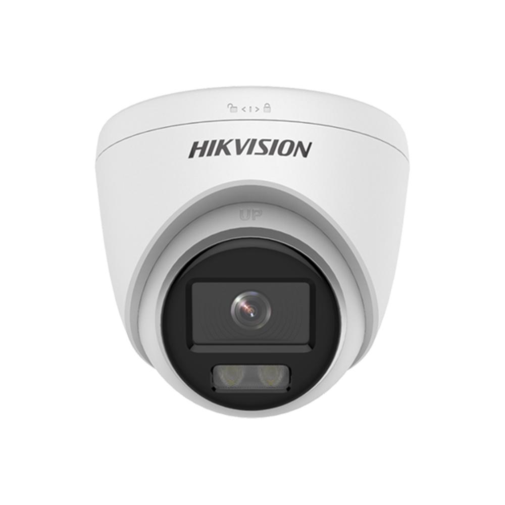 Camera supraveghere IP exterior Hikvision ColorVu DS-2CD1347G0-L, 4 MP, lumina alba 30 m, 2.8 mm, PoE