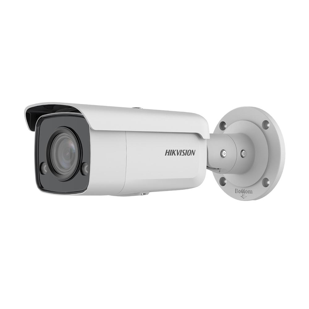 Camera supraveghere IP exterior Hikvision ColorVu DS-2CD2T87G2-L, 8 MP, lumina alba 60 m, 2.8 mm, slot card, PoE