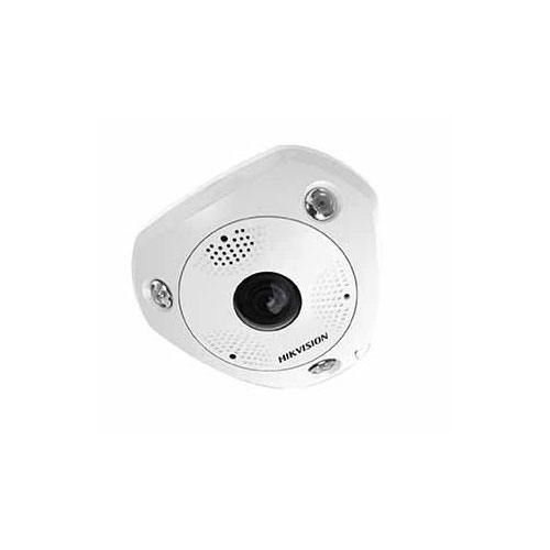 Camera supraveghere Dome IP Hikvision DS-2CD6362F-I Fisheye, 6 MP, IR 15 m, 1.27 mm