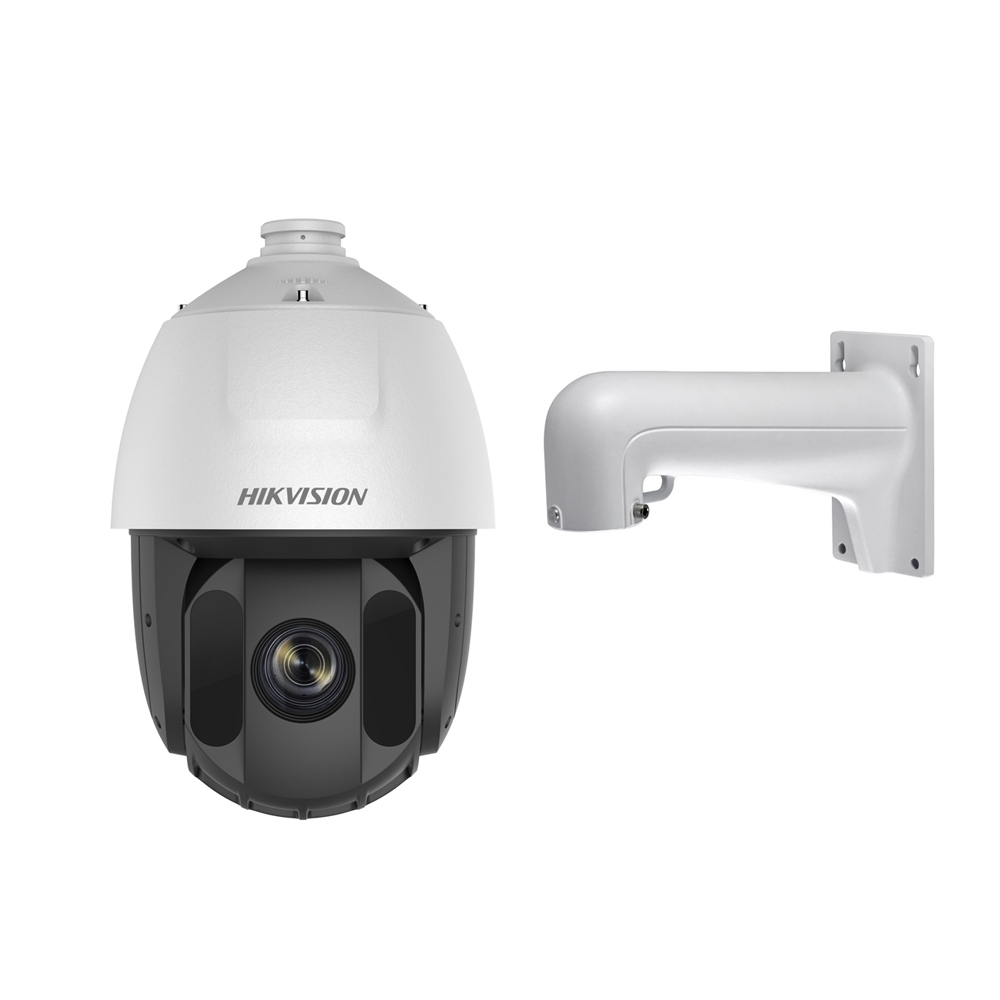 Camera supraveghere IP Speed Dome Hikvision DS-2DE5425IW-AE, 4 MP, IR 150 m, 4.8 - 120 mm, 25x + suport imagine