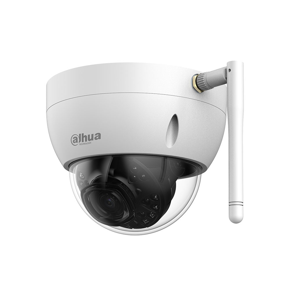 Camera supraveghere IP wireless Dome Dahua IPC-HDBW1235E-W-0280B-S2, 2 MP, IR 30 m, 2.8 mm, slot card imagine spy-shop.ro 2021