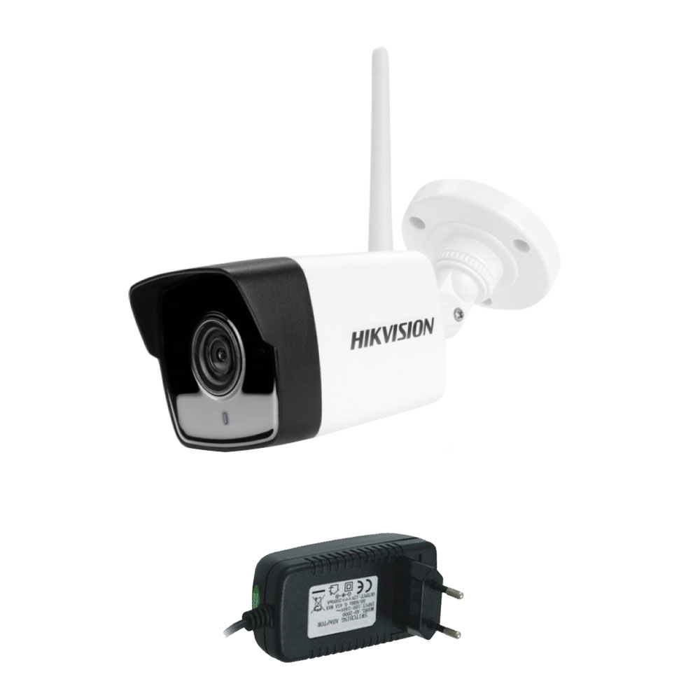 Camera supraveghere IP wireless Hikvision DS-2CV1021G0-IDW1, 2 MP, IR 30 m, 2.8 mm, microfon + alimentare imagine spy-shop.ro 2021