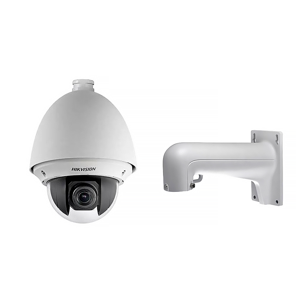 Camera supraveghere Speed Dome IP Hikvision DS-2DE4220W-AE, 2 MP, 4.7 - 94 mm, microfon, 20x + suport imagine