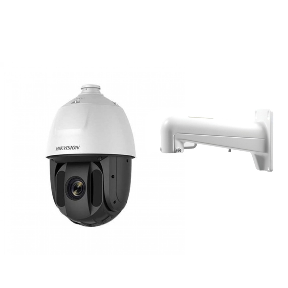 Camera supraveghere Speed Dome IP Hikvision DS-2DE5225IW-AE, 2 MP, IR 150 m, 4.8-120 mm, 16 x + suport imagine