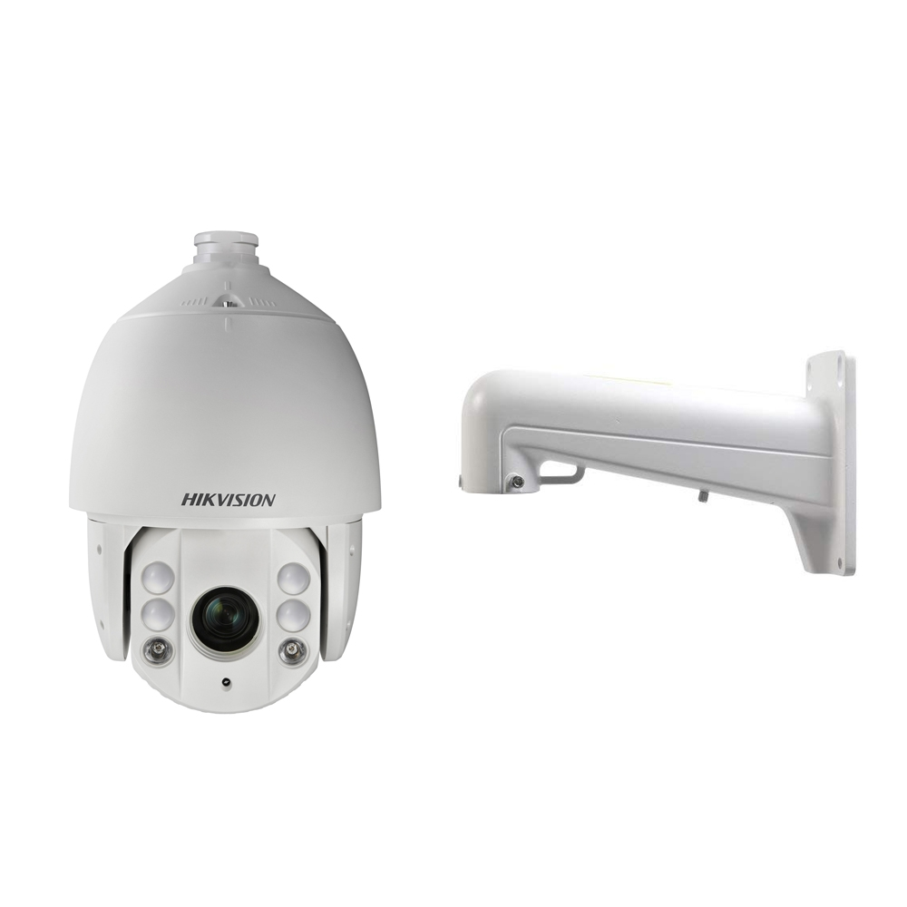 Camera supraveghere Speed Dome IP Hikvision Ultra Low Light DS-2DE7225IW-AE, 2MP, IR 150 m, 4.8 - 120 mm + support imagine
