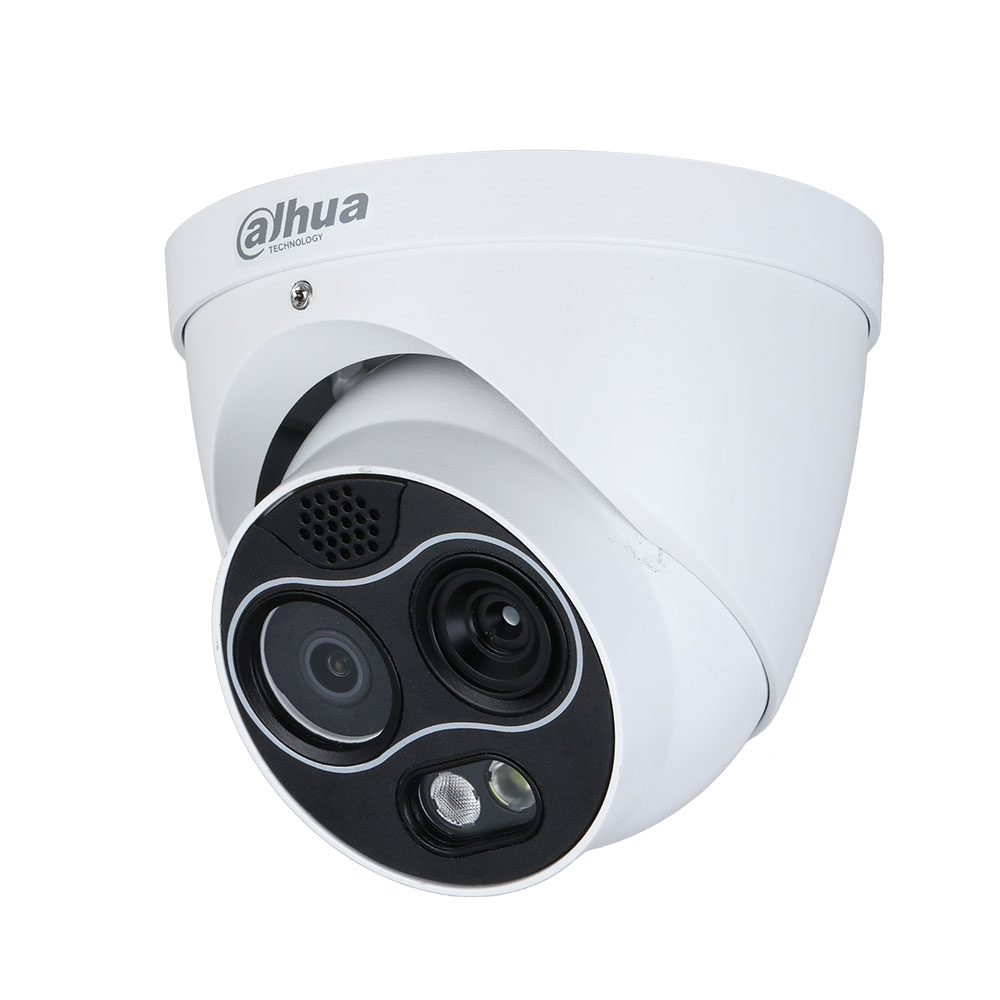 Camera supraveghere termica IP Dahua WizSense TPC-DF1241-D3F4, 4 MP, 4 mm, IR 30 m, detectie incendiu, functii smart, slot card imagine