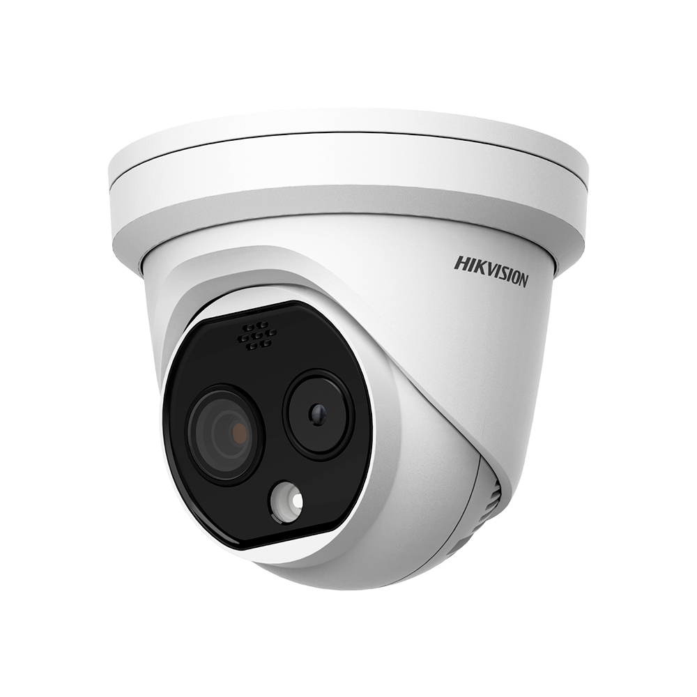 Camera supraveghere termica IP de exterior Hikvision DeepinView DS-2TD1217-2/PA, 4 MP, IR 15 m, 2.1 mm, stroboscop imagine